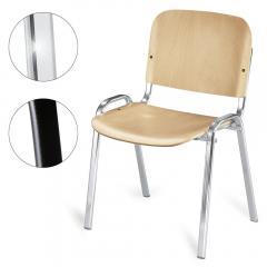 Bezoekersstoel ISO - hout, 2 ondersteelkleur