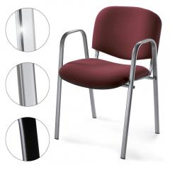 Bezoekersstoel ISO met armleggers, 3 ondersteelkleur