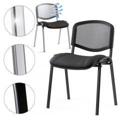 Bezoekersstoel ISO NET, 3 ondersteelkleur