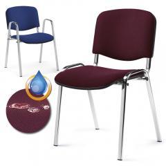 Bezoekersstoel ISO S stof Intervene - onderstel verchroomd