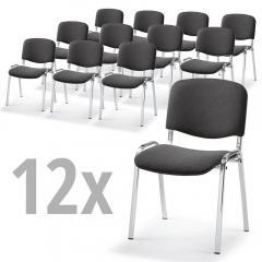 12 Bezoekersstoeln ISO in SET, 3 ondersteelkleur