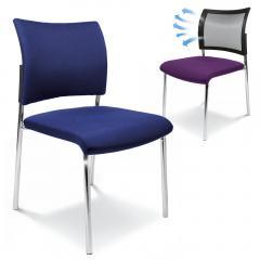 Bezoekersstoel LAS VEGAS met 4-pootsonderstel
