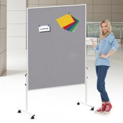 Presentatiebord ECONOMY textiel grijs /Whiteboard | smal - enkelvoudig