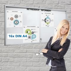 Informatiekast DIN A0, aluminium 920   1280