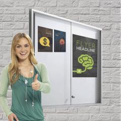 Vlakke informatie- en affichekasten