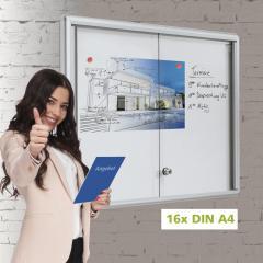 Informatiekast, afgerond frame 16 x DIN A4