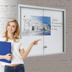 Informatievitrinekasten met afgerond frame