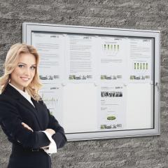Vleugeldeur-infokasten voor binnen- en buitengebruik