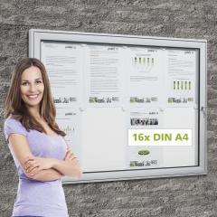 Vitrinekast met draaideur posterformaat 16 x DIN A4
