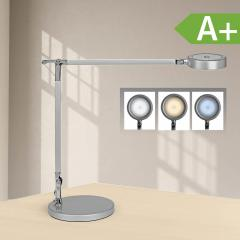 LED-bureaulamp zilver