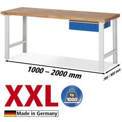 XXL-Werkbanken met 1 lades