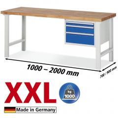 XXL-Werkbanken met 3 lades