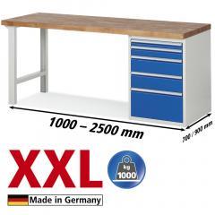 XXL-Werkbanken met 5 lades