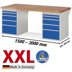 XXL-Werkbanken met 2x5 lades