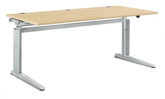 Zit-/sta bureautafel PROFI MODUL beukdecor   1600   rechthoek