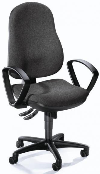 Bureaustoel COMFORT I incl armleggers antraciet | polyamide zwart