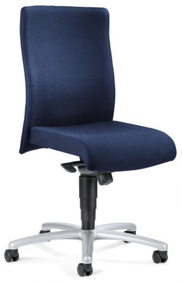 Bureaustoel DV 30 zonder armleggers donkerblauw   zonder armleggers (optioneel)   aluzilver