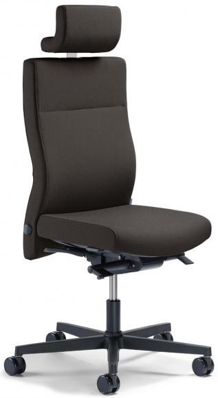 Bureaustoel winSIT zonder armleggers donkergrijs   met gewichtsautomatic   zitdiepteverstelling   polyamide zwart   ja
