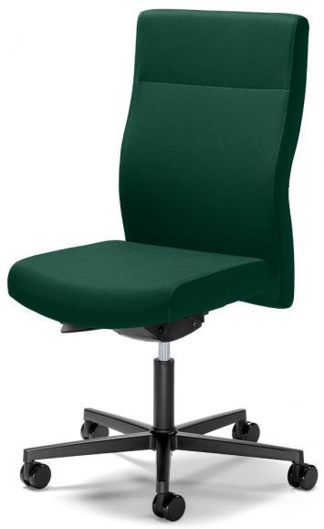 Bureaustoel winSIT zonder armleggers donkergroen | met gewichtsautomatic | zitdiepteverstelling | polyamide zwart | geen