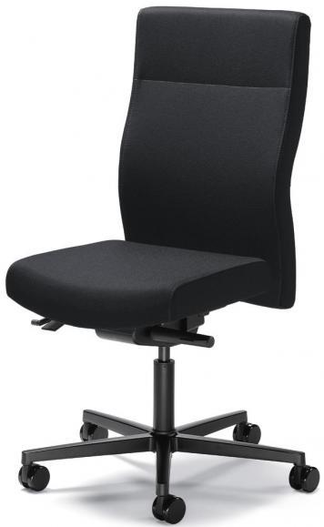 Bureaustoel winSIT zonder armleggers zwart | zitneigingautomatic, zitdiepteverstelling | met tegendrukaanpassing | polyamide zwart | geen