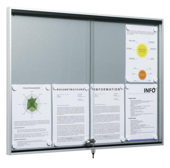 Schuifdeuren-infokasten voor binnengebruik