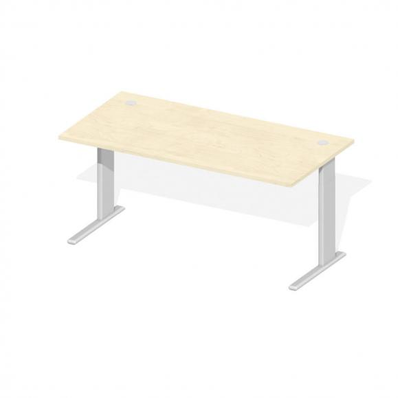 Bureautafel Comfort M MULTI MODUL esdoorndecor | 1600 | aluzilver RAL 9006