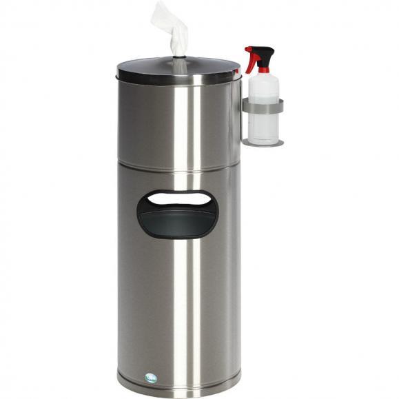 Desinfecteringsstation met flessenhouder edelstaal, mat | geen