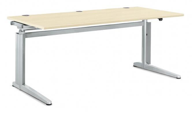 Zit-/sta bureautafel PROFI MODUL esdoorndecor   1600   rechthoek