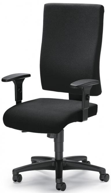 Bureaustoel COMFORT R BIG incl. armleggers zwart