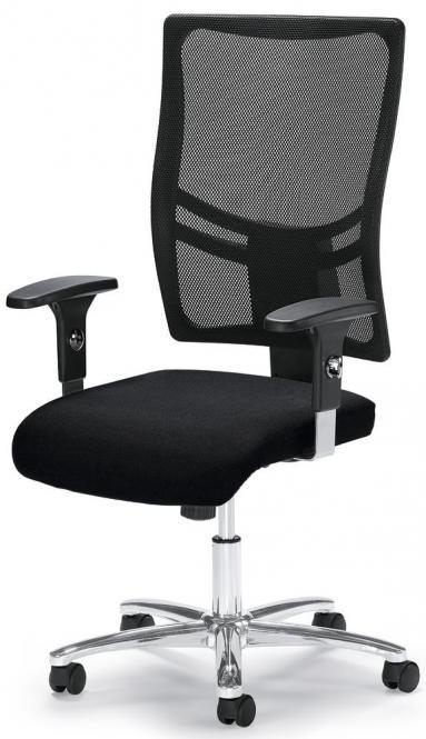 Bureaustoel COMFORT R NET BIG DELUXE incl. armleggers zwart/zwart