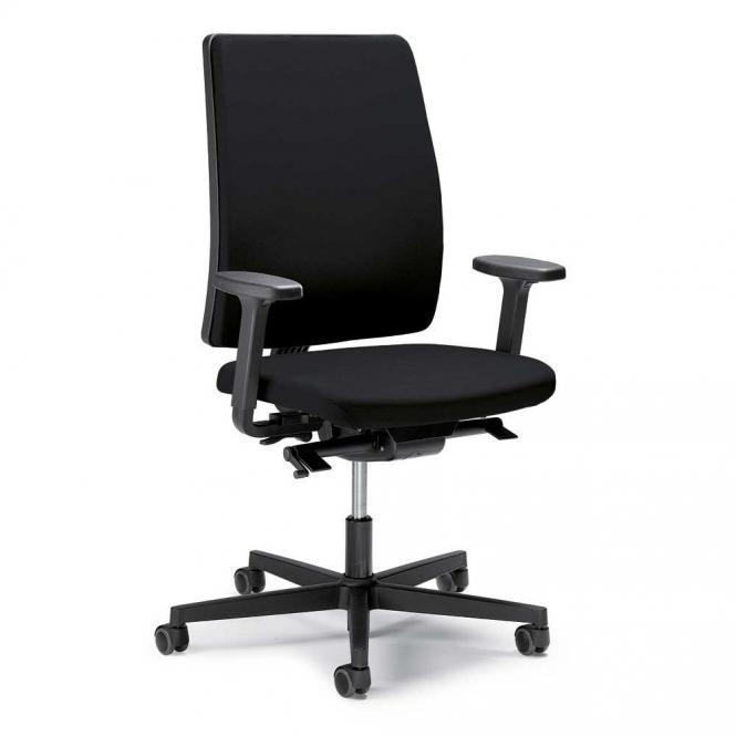 Bureaustoel ecoSIT zonder armleggers zwart