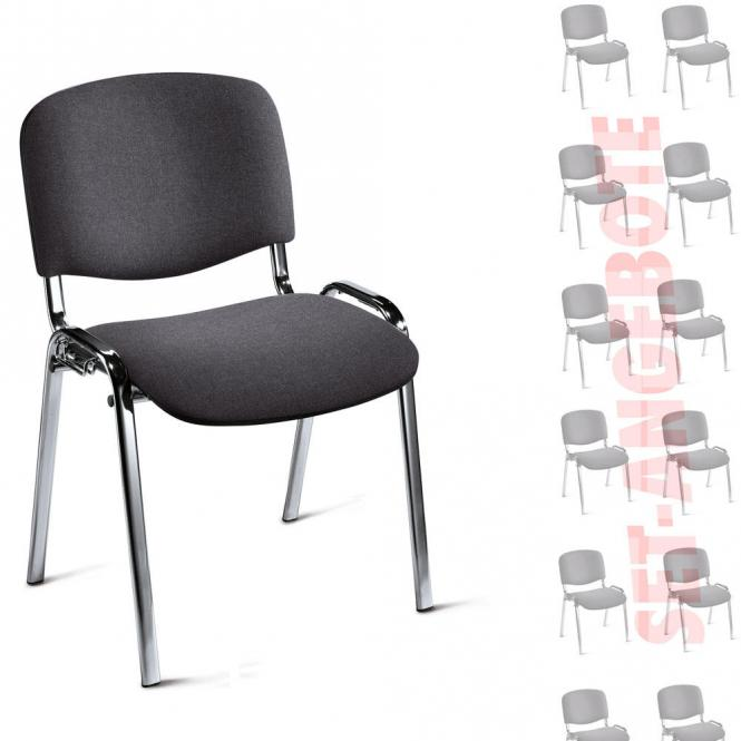 8 Bezoekersstoelen ISO in SET