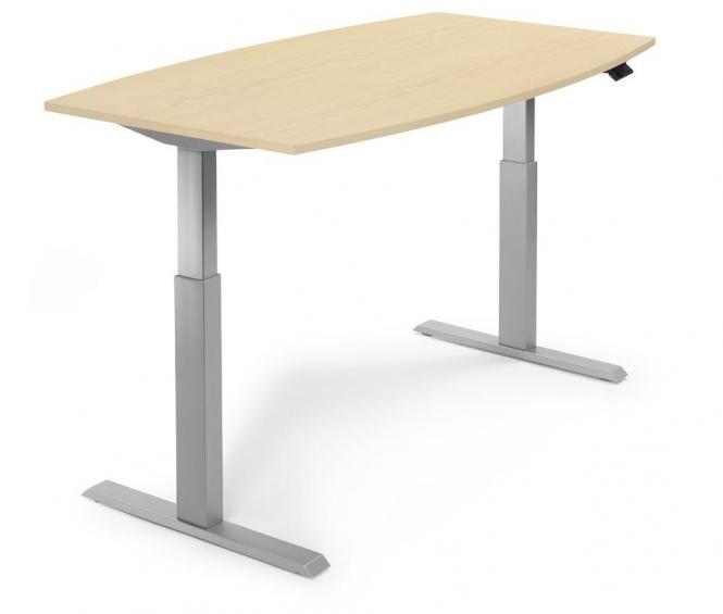 Zit-/sta vergadertafel - elektrisch hoogteverstelbaar esdoorndecor | 2000