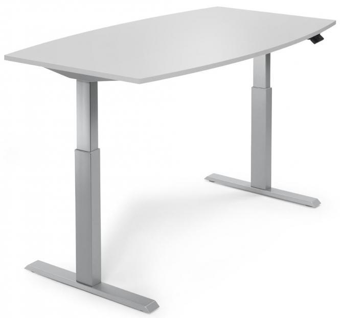 Zit-/stavergadertafel, in de hoogte verstelbaar lichtgrijs | 2000