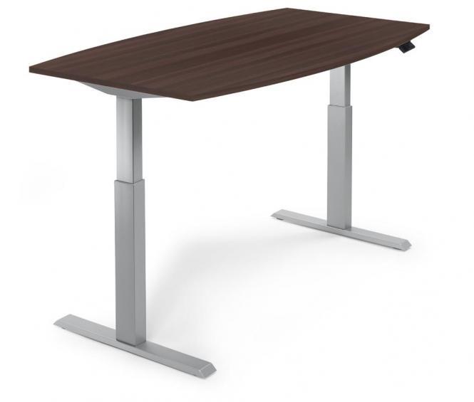 Zit-/sta vergadertafel - elektrisch hoogteverstelbaar wenge | 2000