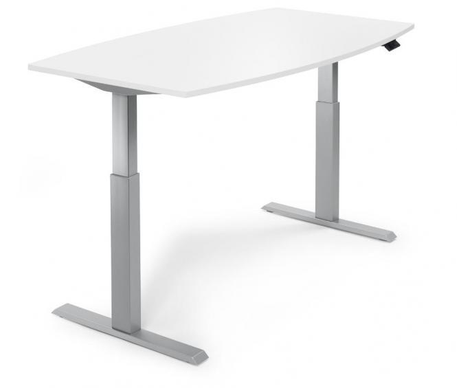 Zit-/sta vergadertafel - elektrisch hoogteverstelbaar wit   2000