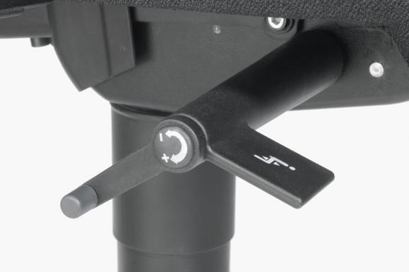 Bureaustoel DV 30 zonder armleggers donkergrijs | zonder armleggers (optioneel) | aluzilver