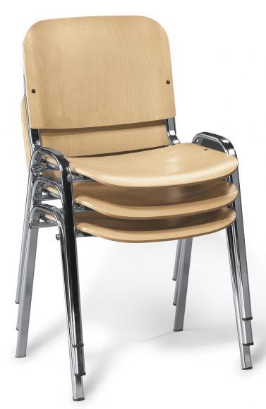 Bezoekersstoel ISO hout beuk