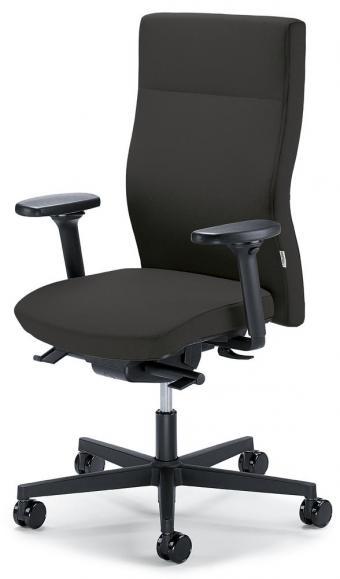 Bureaustoel winSIT zonder armleggers donkergrijs   met tegendrukaanpassing   zitdiepteverstelling   polyamide zwart   geen
