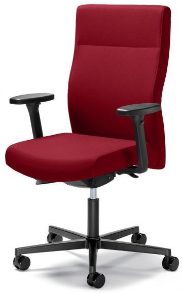 Bureaustoel winSIT zonder armleggers rood | met gewichtsautomatic | zitdiepteverstelling | polyamide zwart | geen