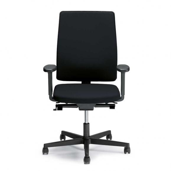 Bureaustoel ecoSIT zonder armleggers zwart | met rugkussen