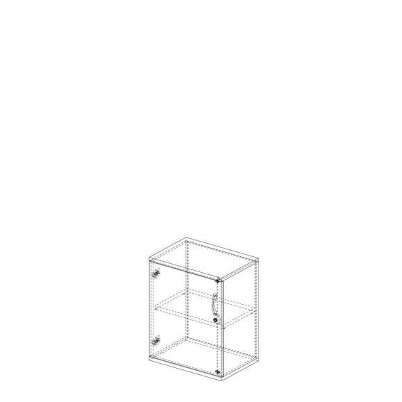 Draaideurkast PROFI MODUL esdoorndecor | 600 | Deurstop links | 780 mm (2 OH)