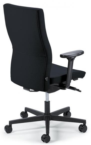 Bureaustoel winSIT zonder armleggers zwart | met tegendrukaanpassing | zitdiepteverstelling | polyamide zwart | geen