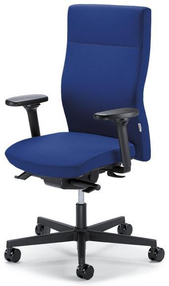 Bureaustoel winSIT zonder armleggers blauw | met tegendrukaanpassing | zitneigingautomatic, zitdiepteverstelling | polyamide zwart | geen