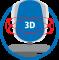 Rugleuning driedimensioneel beweegbaar (Body-Balance-Tec)