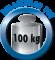 Tische bei gleichmäßig verteilter Last bis 100 kg belastbar.