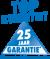 Wij verlenen U 25 jaar garantie - uitgezonderd slijtage onderdelen
