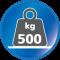 Belastbar bis 500 kg