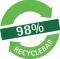 98% recycleerbaar